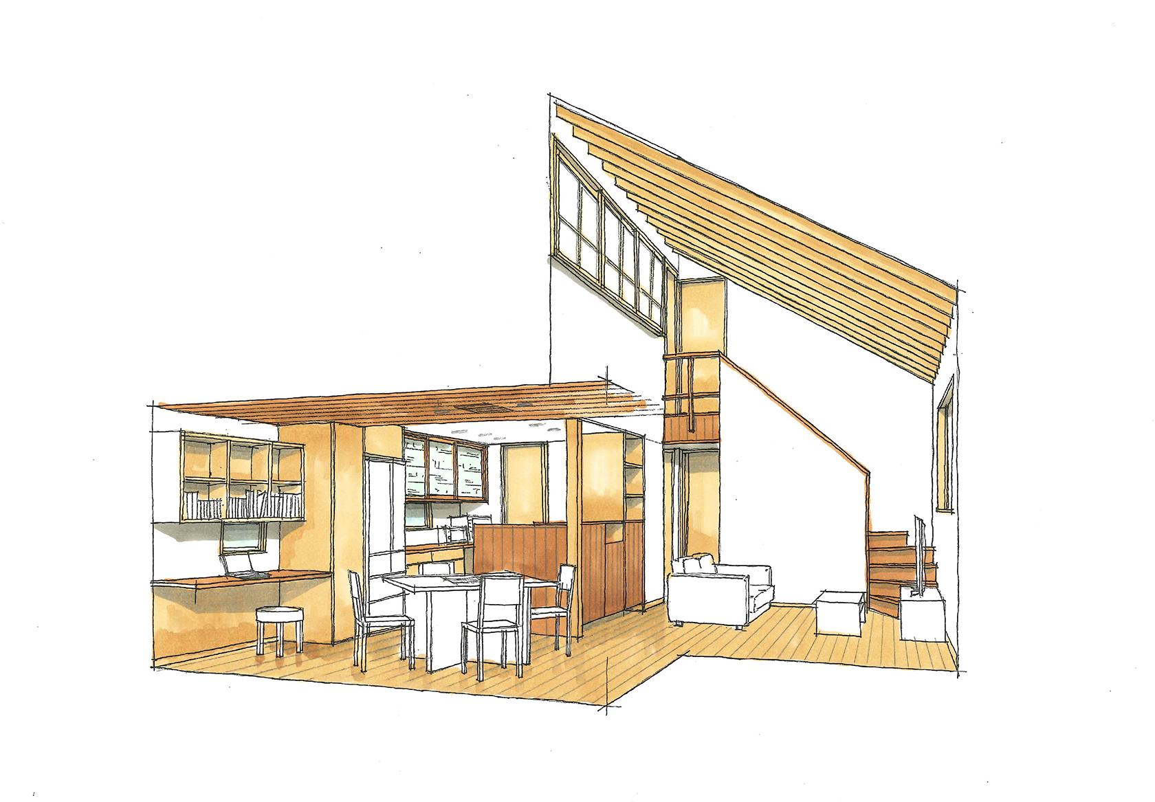 モデルハウス内観パース|株式会社未来住建