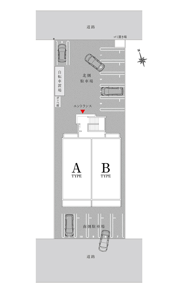 リブレ桜井駅東の配置図|株式会社未来住建|安城市|注文住宅・マンションリフォーム・定期借地権付分譲