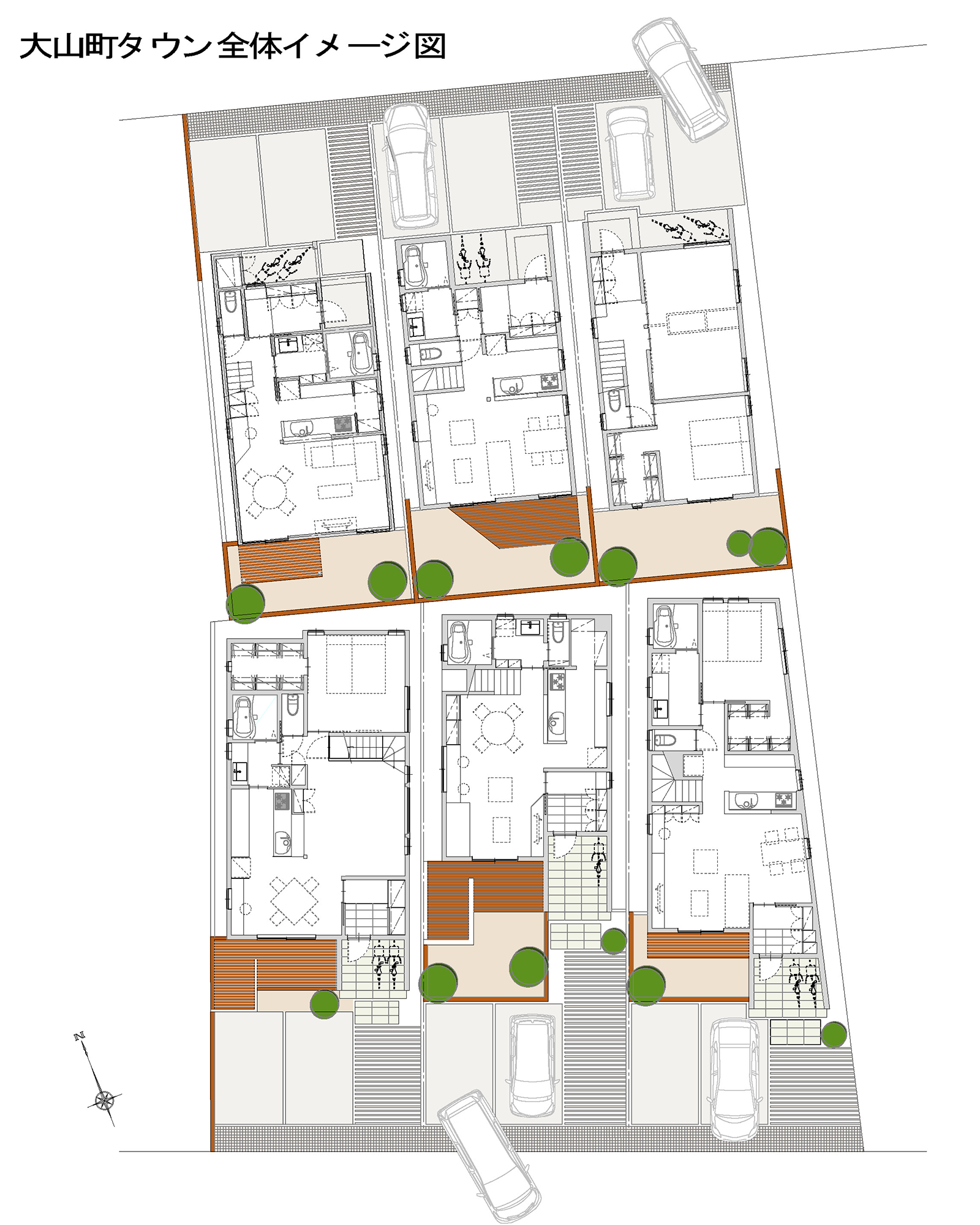 大山町タウンの全体イメージ図|株式会社未来住建|安城市|注文住宅・マンションリフォーム・定期借地権付分譲